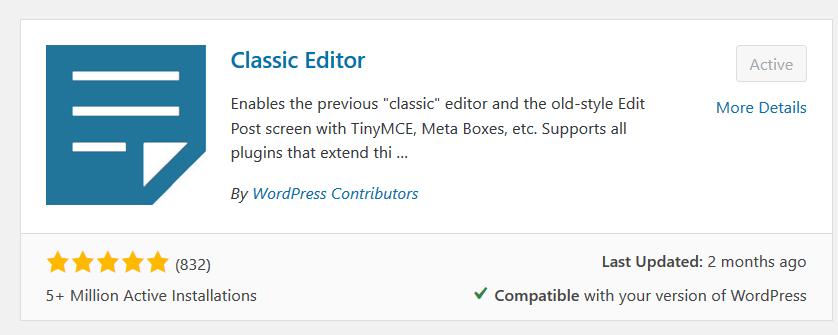 classic-editor-plugin-free
