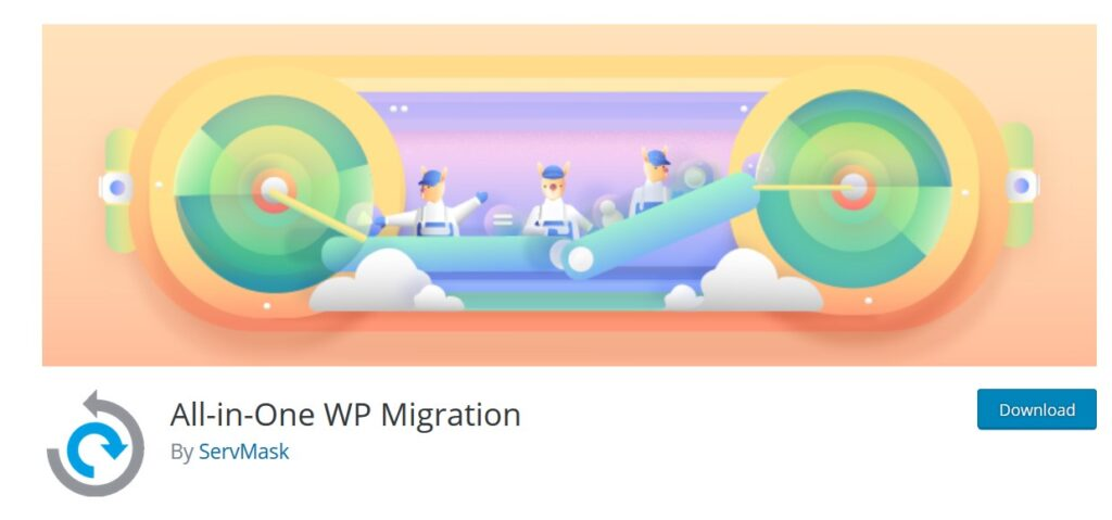 wp-all in one migration