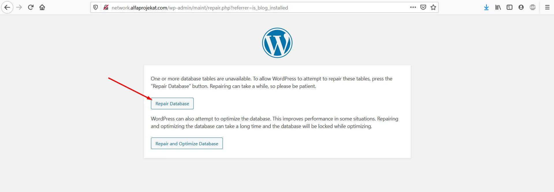 repair-database-wordpress-problem-fix